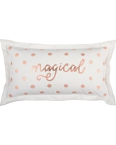 Rizzy Home Christmas Magical 14 in. x 26 in. Decorative Filled Pillow, Whites