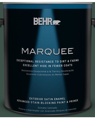BEHR MARQUEE 1 gal. #470F-7 Deep Jungle Satin Enamel Exterior Paint and Primer in One