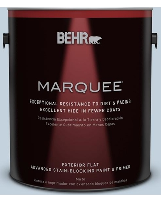 BEHR MARQUEE 1 gal. #570E-2 Velvet Sky Flat Exterior Paint and Primer in One