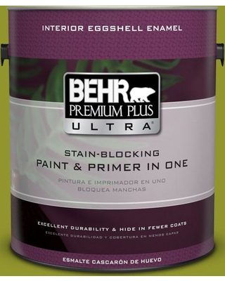 BEHR ULTRA 1 gal. #P350-7 Lazy Lizard Eggshell Enamel Interior Paint and Primer in One