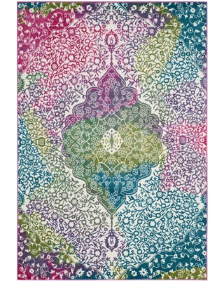Safavieh Watercolor Ivory/Fuchsia (Ivory/Pink) 5 ft. x 8 ft. Area Rug