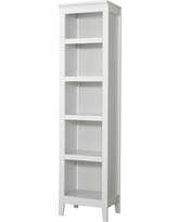 Carson Narrow 5 Shelf Bookcase - White - Threshold