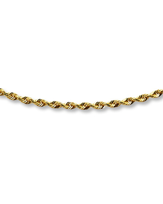 """Jared The Galleria Of Jewelry Glitter Rope Chain Necklace 14K Yellow Gold 24"""" Length"""