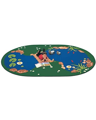 """Carpets for Kids The Pond Rug, 4'5"""" x 5'10"""" Oval"""