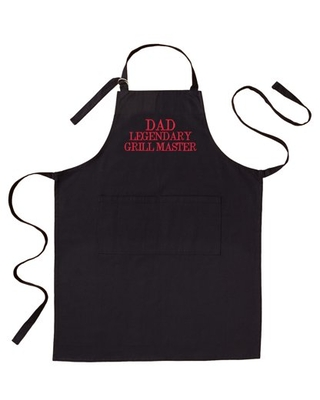 Personalized Family Fun Embroidered Grill Apron - Black Adult - Block