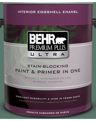 BEHR ULTRA 1 gal. #S420-6 Pine Brook Eggshell Enamel Interior Paint and Primer in One