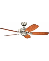 "52"" Canfield Brushed Nickel ENERGY STAR Ceiling Fan"