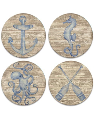 CoasterStone Providence Set of 4 Coasters, One Size, Multicolored