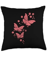 Butterfly Lover Cool Nature Butterflies Gifts Design for Nature Lover Cute Butterflies Throw Pillow, 18x18, Multicolor