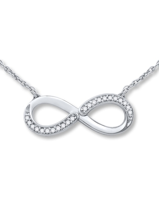 Jared Infinity Necklace 1/15 ct tw Diamonds Sterling Silver