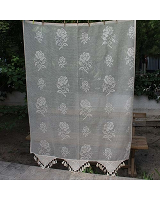 Floral Curtains Rose Curtains French Country Home Decor Net Curtains For Living  Room Cottage Curtains Sheer
