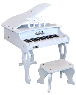 30 Key Baby Grand Digital Piano - White - Classic & Retro Toys for Ages 3 to 5 - Fat Brain Toys