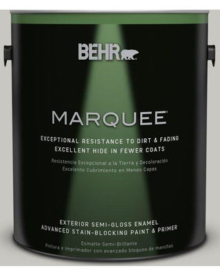 BEHR MARQUEE 1 gal. #N360-2 Silver Marlin Semi-Gloss Enamel Exterior Paint and Primer in One