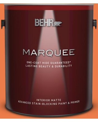 BEHR MARQUEE 1 gal. #P200-6 Sizzling Sunset Matte Interior Paint and Primer in One