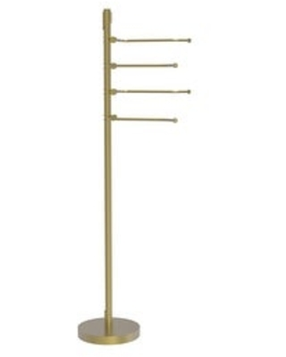 Allied Brass Floor Standing 49-in 4 Pivoting Swing Arm Towel Holder (Antique Pewter)