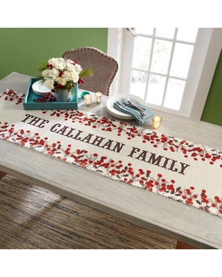 Spectacular Sales For Personalized Winter Berry Christmas Table Runner