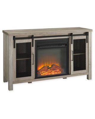Forest Gate™ Englewood 48-Inch Console Table with Electric Fireplace in Grey Wash