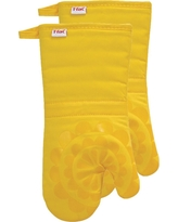 "Yellow Medallion Silicone Oven Mitt 2 Pack (13""x13"") T-Fal"