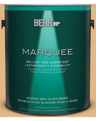 BEHR MARQUEE 1 gal. Home Decorators Collection #HDC-CL-18 Cellini Gold One-Coat Hide Semi-Gloss Enamel Interior Paint & Primer
