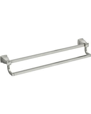 Moen Hensley 24 In Double Towel Bar With Presark Brushed Nickel From Home Depot Bhg