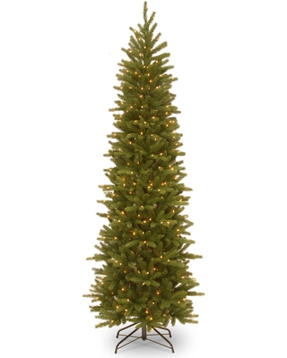 6.5 ft. Grand Fir Pencil Slim Tree with Clear Lights - 6.5'