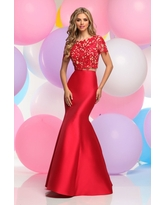 Zoey Grey - Two-Piece Lace Illusion Mermaid Gown 30849