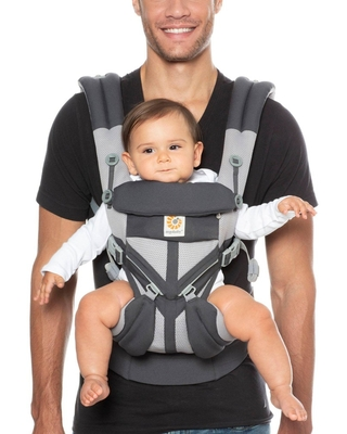 Ergobaby Omni 360 Cool Air Mesh All Carry Positions Baby Carrier - Carbon Gray