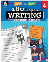Shell Education Educational Workbooks 42370 - 180 Days of Writing for Fourth Grade Workbook