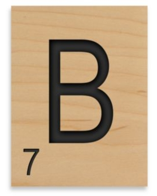 """Game Tile Letter """"B"""" Wall Art Piece"""