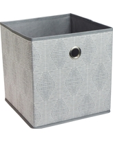 Fabric Cube Storage Bin Gray 11 - Room Essentials, Gray Oval