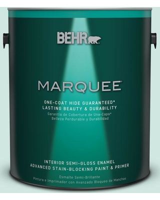BEHR MARQUEE 1 gal. Home Decorators Collection #hdc-CT-26A Seaglass Semi-Gloss Enamel Interior Paint & Primer, Turquoises/Aquas