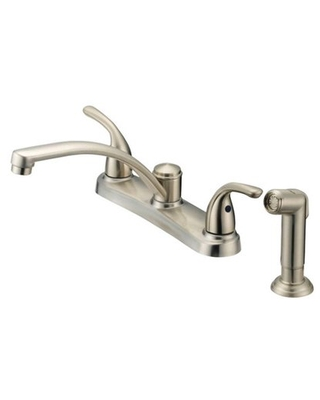 OakBrook Coastal Two Handle Kitchen Faucet with Deck Mount Side Sprayer