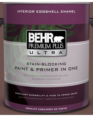 BEHR ULTRA 1 gal. #710B-6 Painted Leather Eggshell Enamel Interior Paint and Primer in One