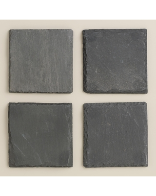 Square Slate Coasters 4 Pack by World Market