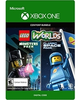 Lego Worlds Classic Space Pack And Monsters Pack Bundle - Xbox One [Digital Code]