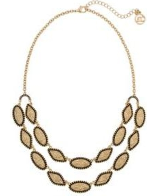 Erica Lyons Gold Gold Tone 2 Row Necklace