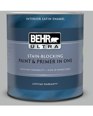 BEHR ULTRA 1 qt. #N460-3 Lunar Surface Satin Enamel Interior Paint and Primer in One
