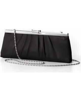Gunne Sax by Jessica McClintock Pleated Satin Convertible Clutch, Black