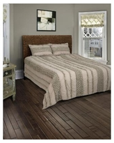 Riztex Usa Georgette 3 Pc. Quilt Set, Queen - Gray