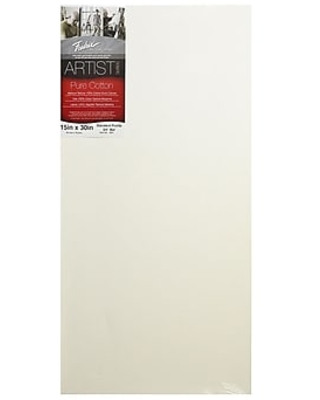Fredrix Red Label Stretched Cotton Canvas 15 in. x 30 in. each,Size: med