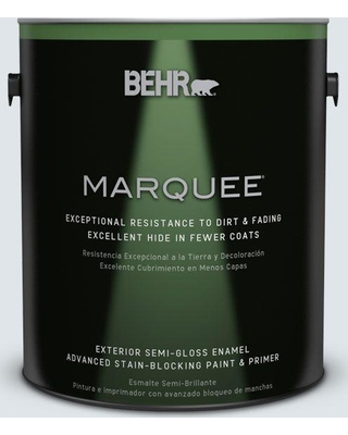 BEHR MARQUEE 1 gal. #BL-W2 Ice Sculpture Semi-Gloss Enamel Exterior Paint and Primer in One