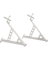Rubbermaid Direct Mount Non-Adjustable Closet System, Hardware, White, Shoe Rack Brackets, Set of 2 (FG3F58LWWHT)