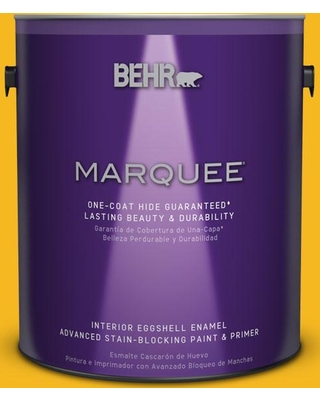 BEHR MARQUEE 1 gal. Home Decorators Collection #hdc-MD-02A Yellow Groove Interior Eggshell Enamel Paint & Primer