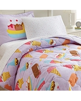 Wildkin Kids 7 Pc Full Bed In A Bag for Boys and Girls, Microfiber Bedding Set Includes Comforter, Flat Sheet, Fitted Sheet, Two Pillow Cases and Two Shams, BPA-free, Olive Kids (Sweet Dreams)