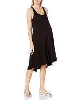Maternal America Women's Hi-lo Maternity Dress, Black, S