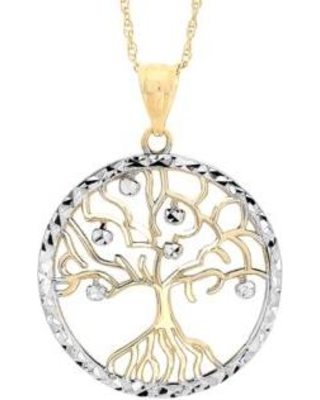 03a7d5717b11e Belk & Co. Belk & Co. Gold Two-Tone 10K Family Tree Pendant Necklace from  Belk | People