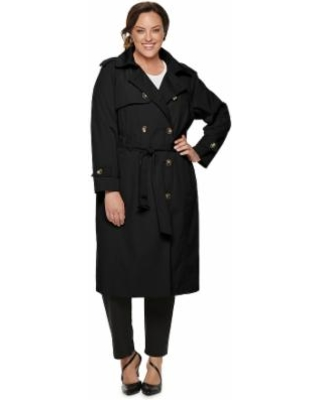 e449d4b0fce TOWER by London Fog Plus Size Tower by London Fog Double-Breasted Belted  Trench Coat