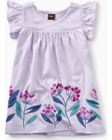 Tea Collection Graphic Wrap Neck Baby Dress