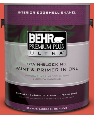 BEHR Premium Plus Ultra 1 gal. #T12-7 Red Wire Eggshell Enamel Interior Paint and Primer in One