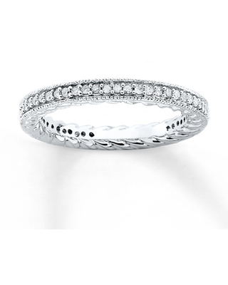 Stackable Diamond Ring 1/3 ct tw Round-cut Sterling Silver